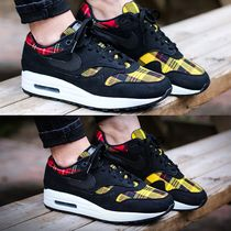 Nike AIR MAX 1 Gingham Casual Style Unisex Faux Fur Street Style