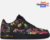 Nike AIR FORCE 1 Flower Patterns Tropical Patterns Unisex Street Style