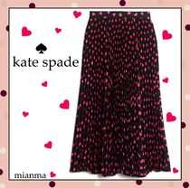 kate spade new york Heart Pleated Skirts Medium Midi Skirts