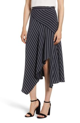 Casual Style Blended Fabrics Skirts