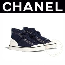 CHANEL SPORTS Rubber Sole Casual Style Street Style Plain Low-Top Sneakers