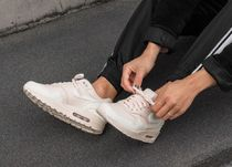 Nike AIR MAX 1 Rubber Sole Casual Style Unisex Street Style Plain