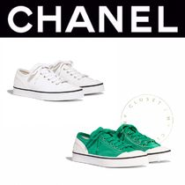 CHANEL SPORTS Rubber Sole Casual Style Suede Street Style Plain