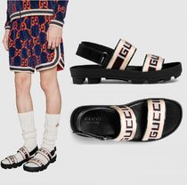 GUCCI Stripes Leather Shoes