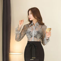 Flower Patterns Long Sleeves Medium Party Style