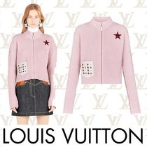 Louis Vuitton Short Casual Style Cashmere Rib Long Sleeves Plain Cropped