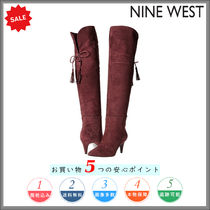 Nine West Casual Style Suede Plain Pin Heels Over-the-Knee Boots