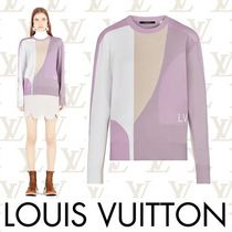 Louis Vuitton Crew Neck Casual Style Wool Long Sleeves Medium Sweaters