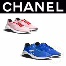 CHANEL SPORTS Rubber Sole Casual Style Blended Fabrics Street Style Plain