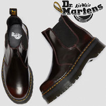 Dr Martens Flower Patterns Casual Style Unisex Street Style Leather