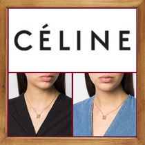 CELINE Initial Brass Necklaces & Pendants