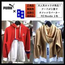 ADERERROR Collaboration Long Sleeves Cotton Oversized Hoodies