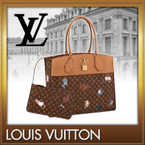 Louis Vuitton MONOGRAM Monogram Street Style A4 Other Animal Patterns Totes