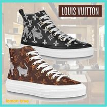 Louis Vuitton MONOGRAM Monogram Casual Style Leather Low-Top Sneakers