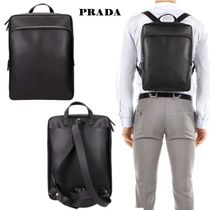 PRADA Saffiano Plain Backpacks