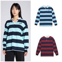 thisisneverthat Stripes Street Style Long Sleeves Cotton Polo Shirts