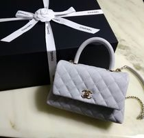 CHANEL 2WAY Leather Party Style Handbags