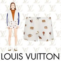 Louis Vuitton Short Casual Style Silk Shorts