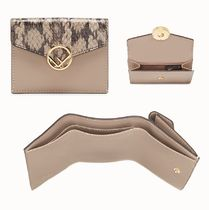 FENDI Other Animal Patterns Leather Folding Wallets