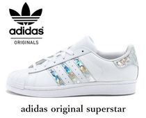 adidas SUPERSTAR Street Style Plain Leather Low-Top Sneakers