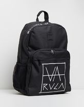 RVCA Unisex Street Style A4 Plain Backpacks