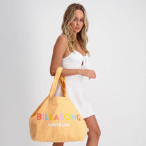 Billabong Casual Style Unisex A4 Plain Oversized Totes