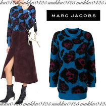 MARC JACOBS Leopard Patterns Casual Style Cashmere Street Style