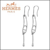 HERMES Blended Fabrics Silver With Jewels Elegant Style