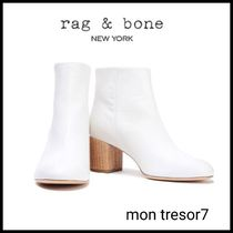 rag & bone Plain Leather Block Heels Ankle & Booties Boots