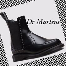 Dr Martens Studded Plain Chelsea Boots Ankle & Booties Boots