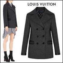 Louis Vuitton MONOGRAM Short Wool Blended Fabrics Bi-color Plain Elegant Style