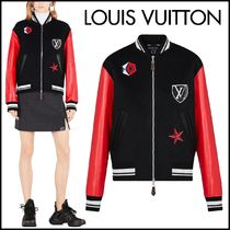 Louis Vuitton Unisex Wool Blended Fabrics Street Style Bi-color Plain