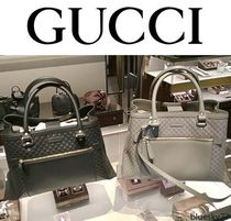 GUCCI 2WAY Leather Elegant Style Totes