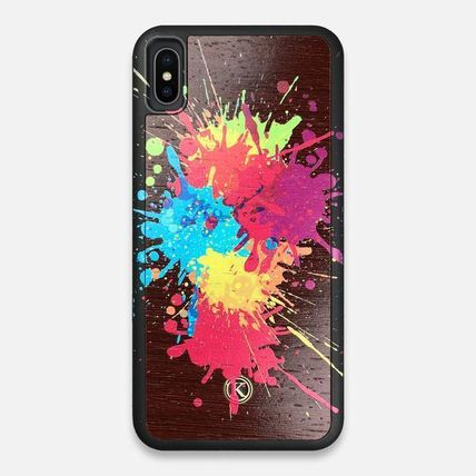 Dots Unisex Handmade Made of Wood Smart Phone Cases