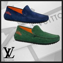 Louis Vuitton Loafers Suede Plain U Tips Loafers & Slip-ons