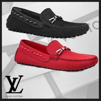 e60824cd692 Louis Vuitton Loafers Plain Leather U Tips Loafers   Slip-ons