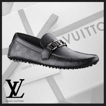 Louis Vuitton DAMIER INFINI Moccasin Leather U Tips Loafers & Slip-ons
