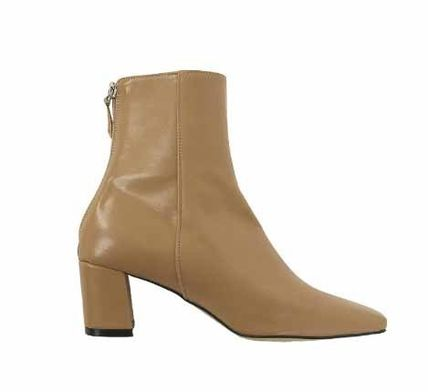 Ankle & Booties Square Toe Casual Style Plain Block Heels 15