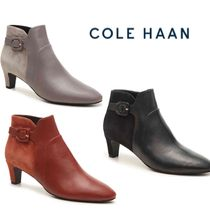 Cole Haan Leather Mid Heel Boots