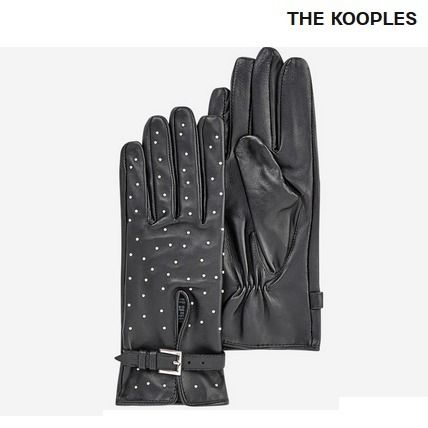 Studded Leather Leather & Faux Leather Gloves