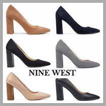 Nine West Suede Plain Block Heels Office Style