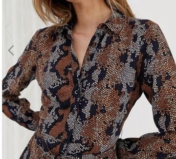Long Sleeves Other Animal Patterns Medium Elegant Style