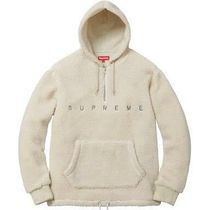 Supreme Pullovers Unisex Blended Fabrics Street Style Long Sleeves