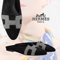 HERMES Suede Bi-color Sandals