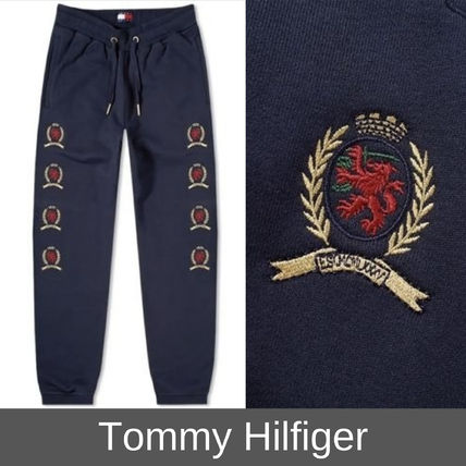really comfortable new lifestyle wide range Tommy Hilfiger Street Style Plain Cotton Joggers & Sweatpants