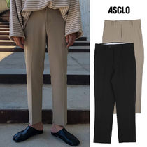 ASCLO Street Style Collaboration Plain Pants