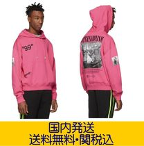 Off-White Long Sleeves Cotton Oversized Hoodies
