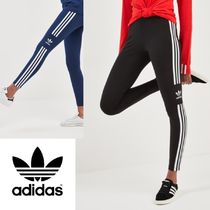 adidas Casual Style Street Style Plain Cotton Long Skinny Pants