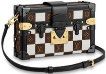 Louis Vuitton PETITE MALLE Monogram 2WAY Leather Elegant Style Shoulder Bags