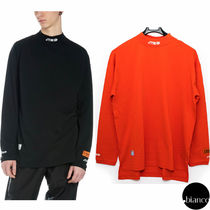 Heron Preston Unisex Street Style Long Sleeves Plain Cotton